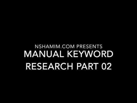 Manual Keyword Research Part 02 – Bangla Video Tutorial