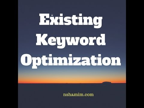 How To Optimize Site Keywords For More Traffics?
