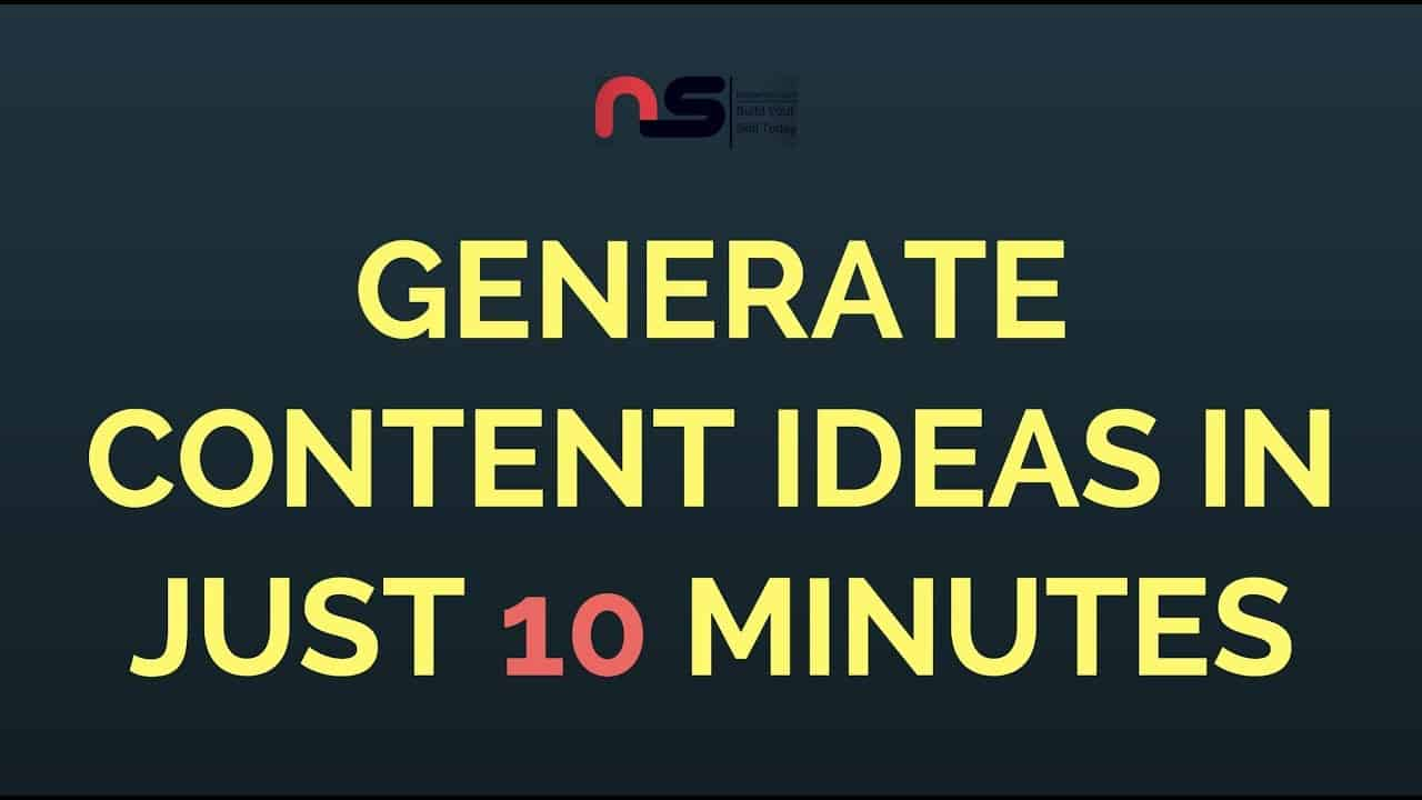 How To Generate Content Ideas In Just 10 Minutes Using Buzzsumo